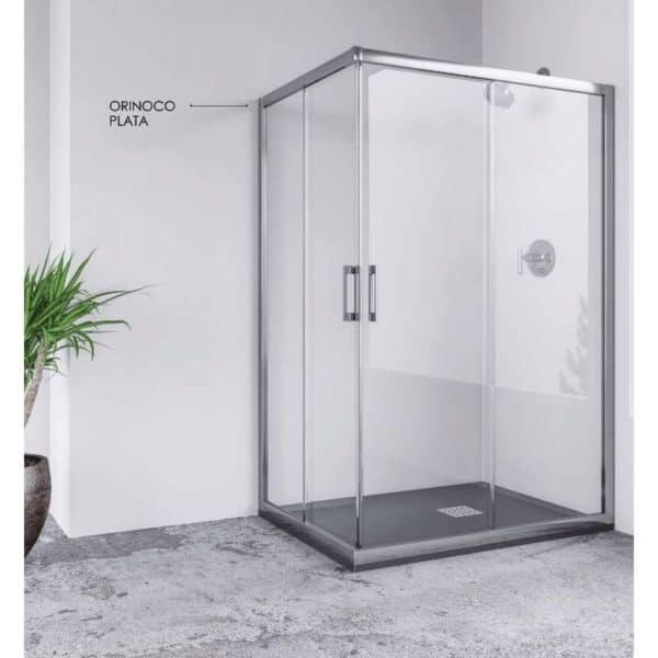 Angular de ducha 2 fijos y 2 puertas correderas - Mamparas Anna Bagno - ORINOCO