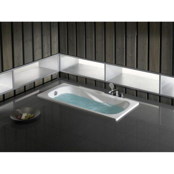 Bañera de Acero rectangular con fondo antideslizante - Princess N - Roca