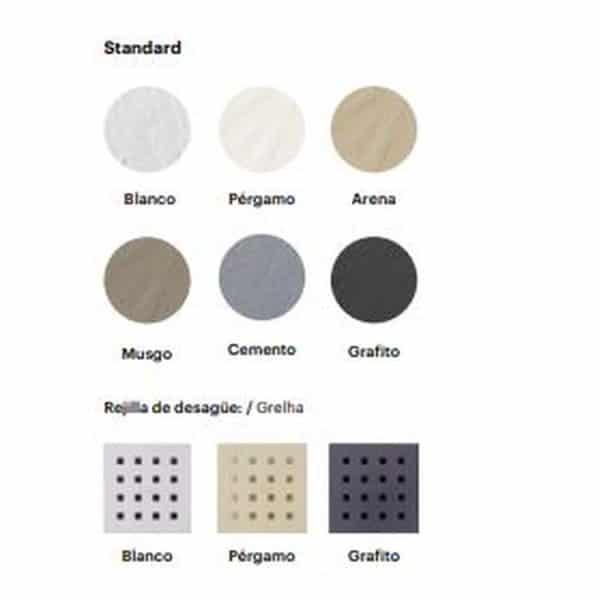 Plato de ducha Pizarra Semicircular - Doccia