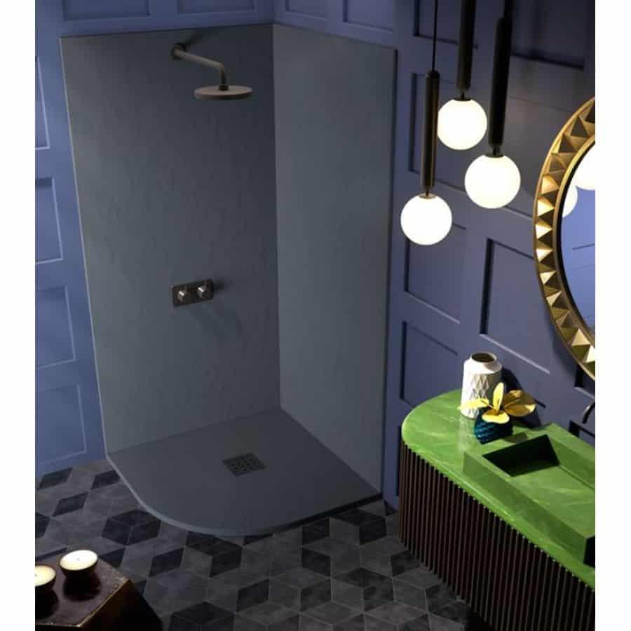 Plato de ducha pizarra semicircular doccia - Suelo ducha pizarra ...