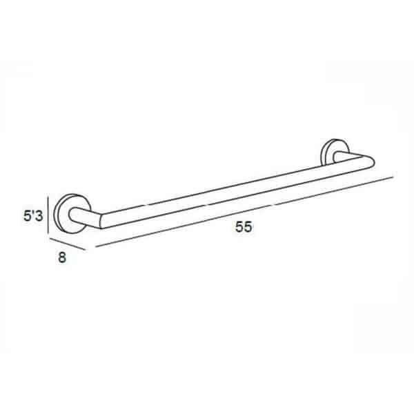 Toallero con forma de barra de 45cm - Yass - Manillons Torrent