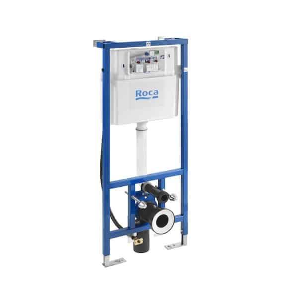DUPLO WC SMART - Bastidor empotrable con cisterna de doble descarga y flexo de alimentación para Smart Toilets - Roca