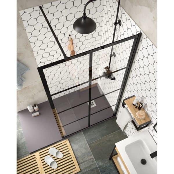 Panel fijo con decorado  - Serie Heaven Black - Salgar