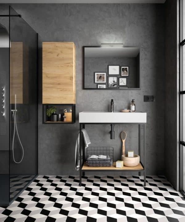 Conjunto mueble a suelo con lavabo cerámico - Vinci - Salgar