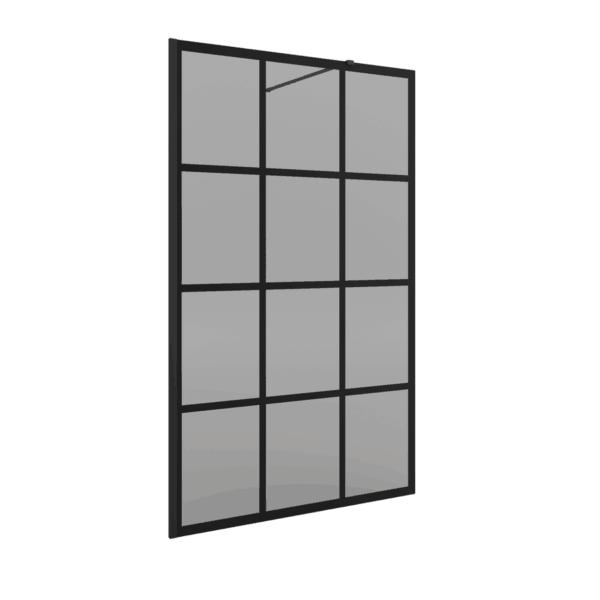 Panel fijo acabado fumé - Serie heaven Black- Salgar