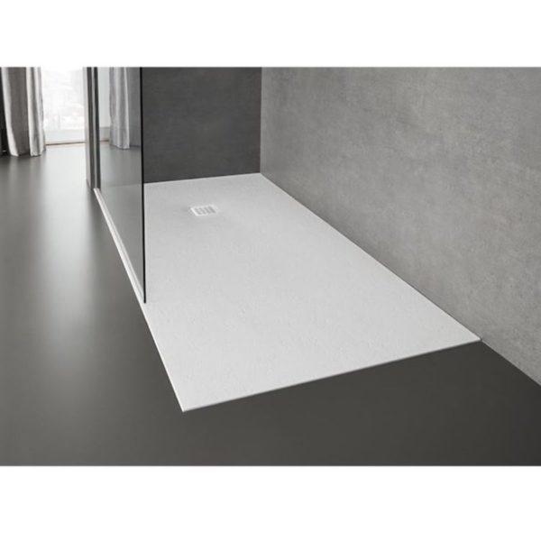 Plato de ducha Blanco Stonex extraplano - Terran - Roca