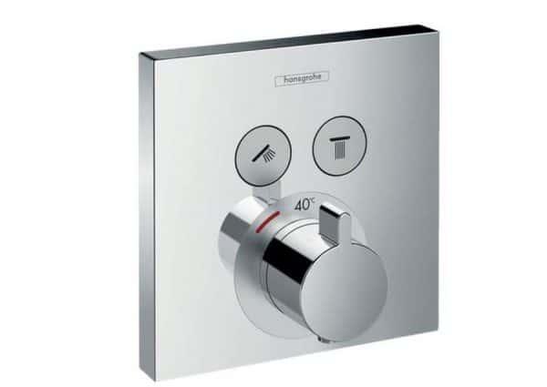 Termostato de ducha empotrado con dos llaves de paso - Shoerselect - hansgrohe