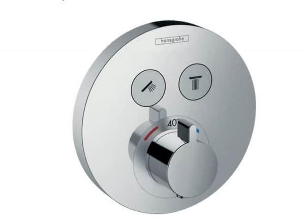 Termostato de ducha empotrado con dos llaves de paso - ShowerSelect S- hansgrohe