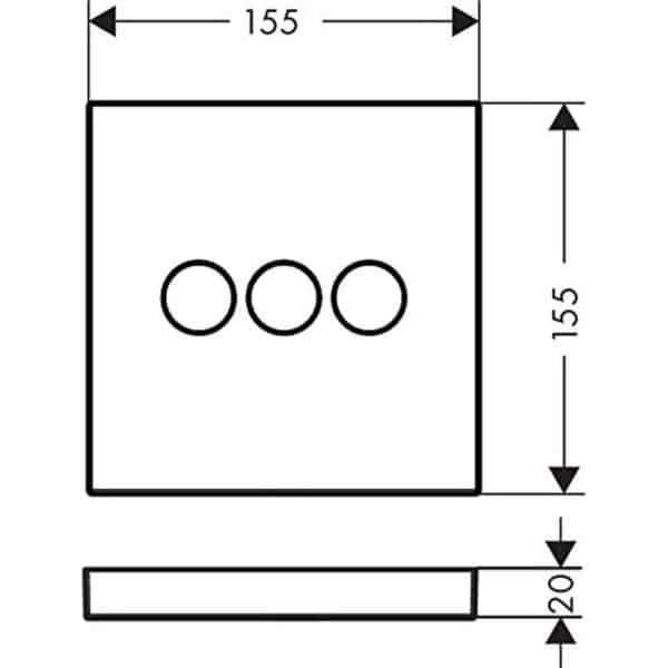 Válvula empotrada 3 llaves de paso ShowerSlect - hansgrohe