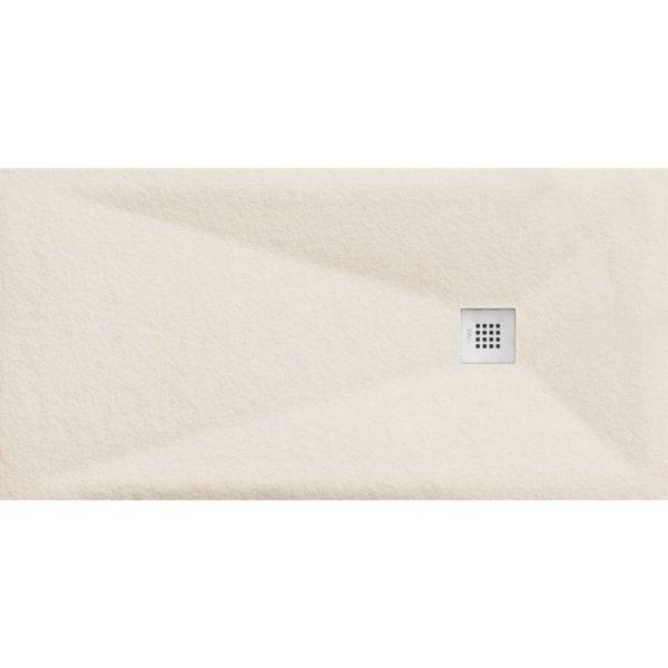 Plato de Ducha Cube Pietra Blanco Roto - Aquahome