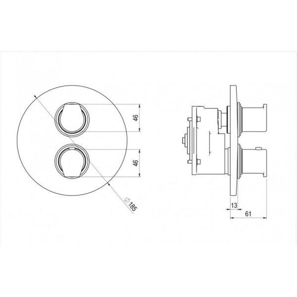 Mecanismo de ducha + caja empotrable - ducha mezcladora - Galindo