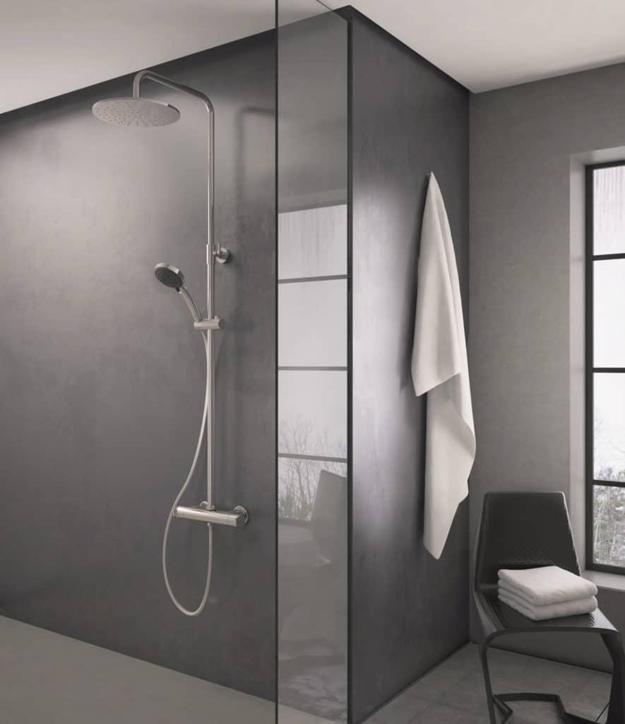 Columna de ducha termostática Aroha de Griferías Galindo