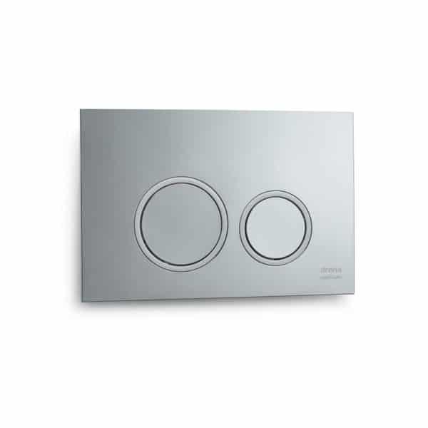 Placa pulsadora doble círculos blanco - Drena
