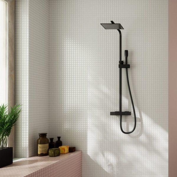 Conjunto de ducha extensible negro mate - Nine Xtreme - Clever