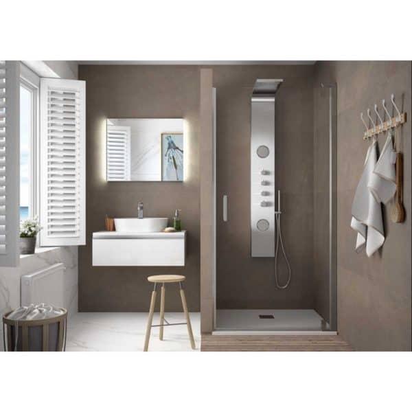 Mampara frontal ducha de una puerta - Serie Malmö - Salgar