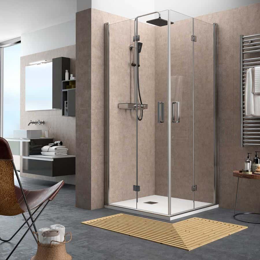 7175b4f037b Mampara de angular de ducha de puerta abatible - Serie Odense ...