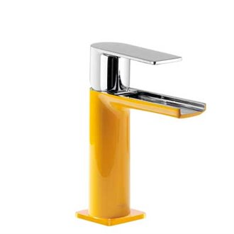 Grifo de lavabo amarillo Loft Colors de Tres Grifería