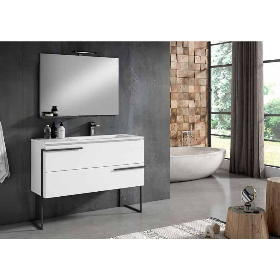 Oferta conjunto blanco scala visobath - Ofertas muebles de bano ...