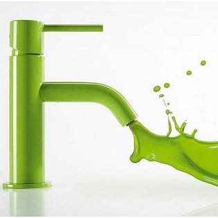 Grifo de lavabo verde Study Colors de Tres Grifería