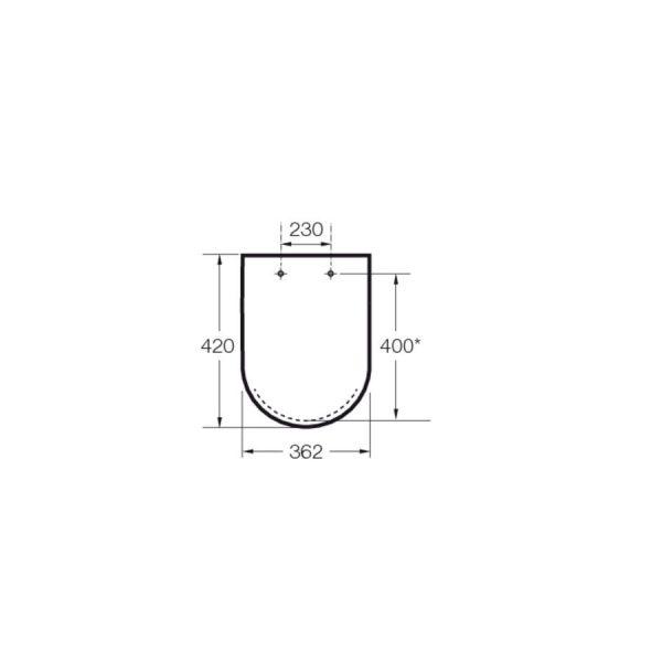 Aisento y tapa para Inodoro Meridian-N-Compacto
