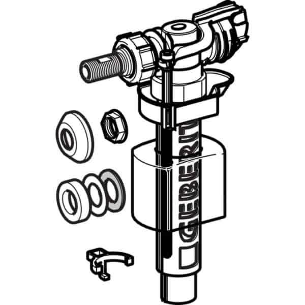 Mecanismo de alimentación serie 380 . Conexión de suministro lateral , 3/8* unicón de latón - Geberit