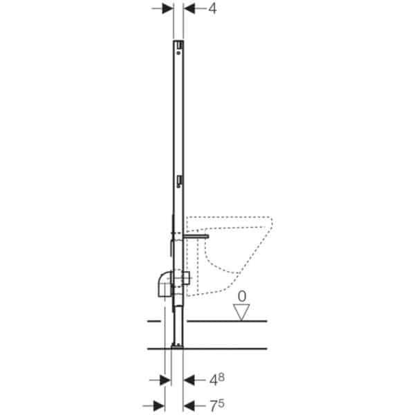 Bastidor para bidé , 112 cm - Duofix - Gaberit
