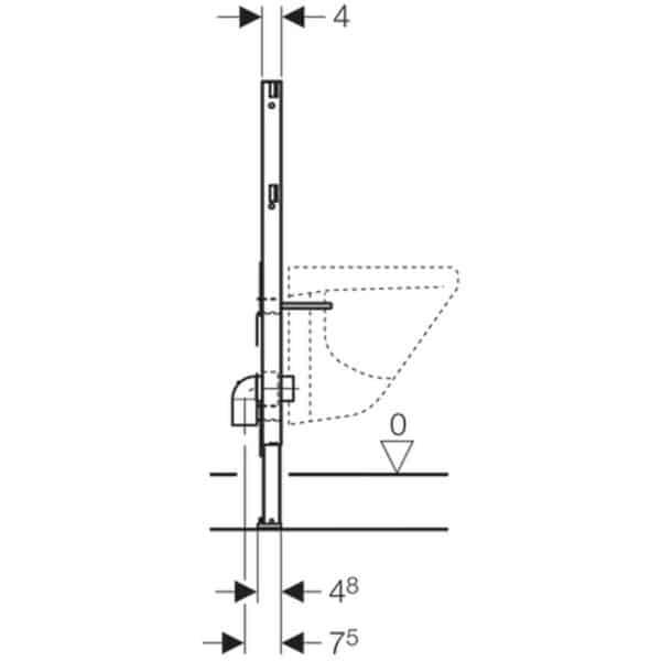 Bastidor para bidé , 82 cm - Duofix - Geberit