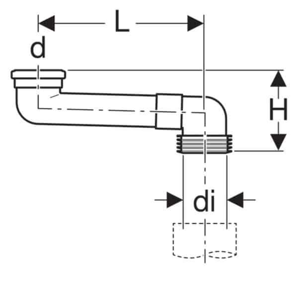 Codo en S de PVC - Geberit