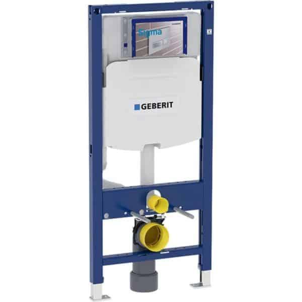 Bastidor para inodoro suspendido 112 cm , con cisterna empotrada 12 cm , codo de desague pvc - Duofix - Geberit