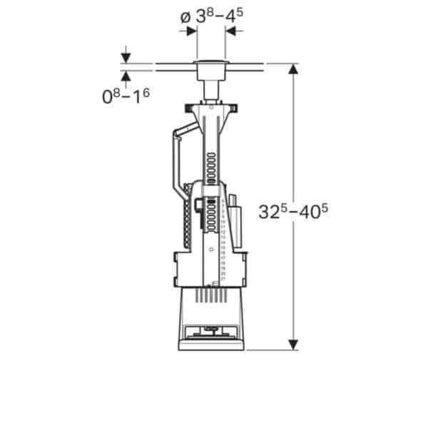 Mecanismo de descarga , doble descarga , recambio de Roca . serie 240 - Geberit