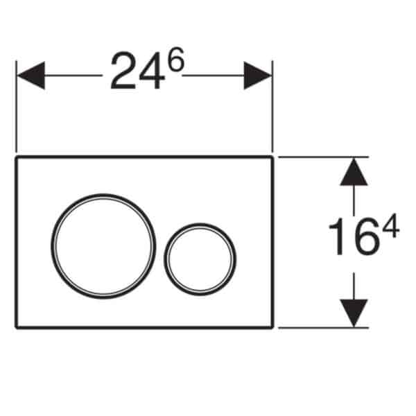 Pulsador para doble descarga - Sigma20 - Geberit