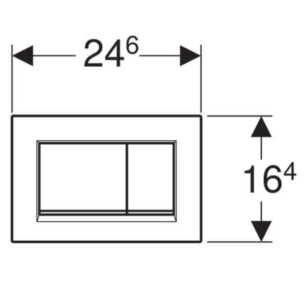 Pulsador para doble descarga - Sigma30 - Geberit