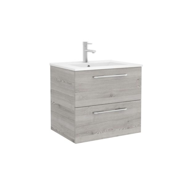 Conjunto mueble suspendido con tiradores y toallero personalizables - Spirit - Salgar