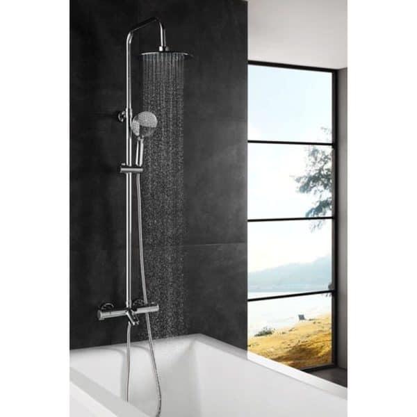 Columna de baño - ducha termostática - Wind blu rd -AQG