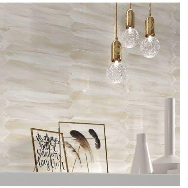 Revestimiento pasta blanca - Losanga - Dune cerámica