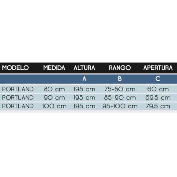 Mampara plegable - Portland - Futurbaño