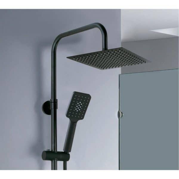 Columna de ducha monomando en acabado negro - Nite - AQG