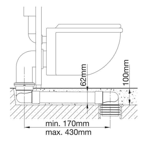 Manguito WC plano para suelo - Drena