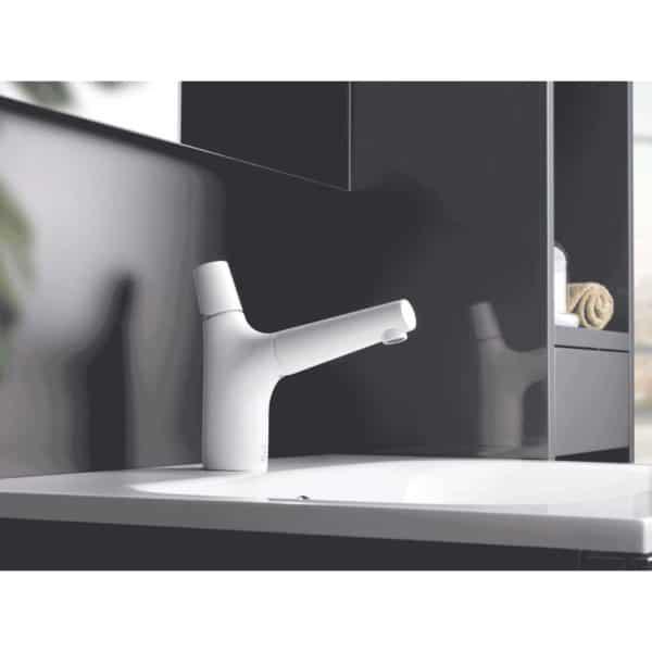 Grifo de lavabo cromo / blanco - Livra - Galindo
