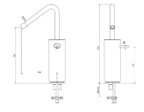 Grifo de lavabo alto - Mármol - Griferías Galindo