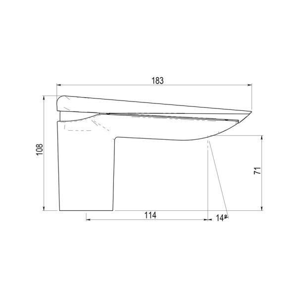 Grifo lavabo marmol negro - Serie Seven - Galindo