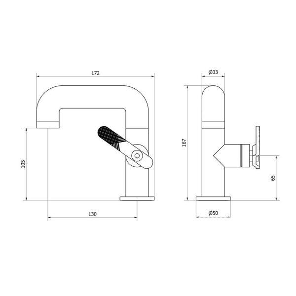 Grifo de lavabo estilo industrial- Strem - Galindo