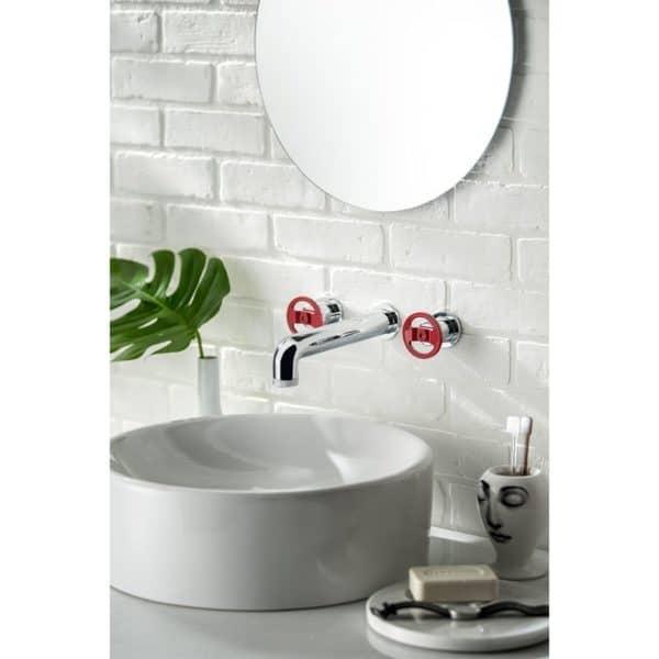 Grifo lavabo mural bimando - Strem - Galindo