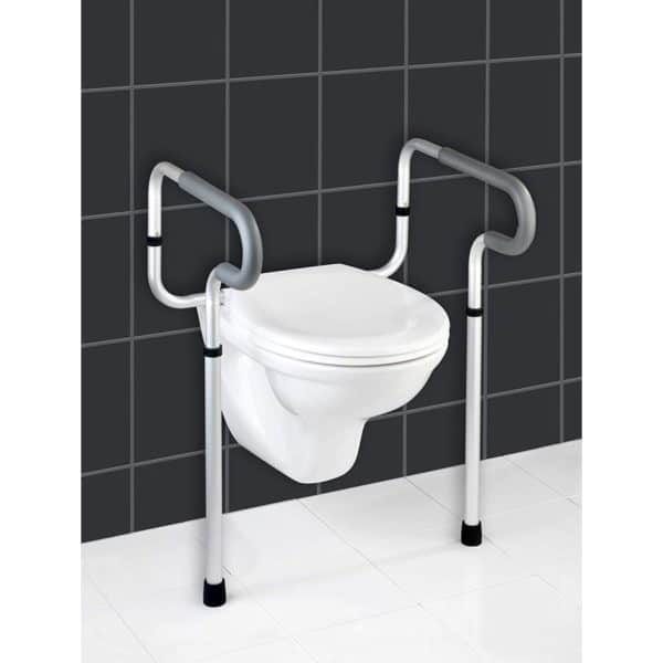 Asistente para Taza de WC Aluminio Plateado 48x55.5x81.5 cm - Secura - Wenko