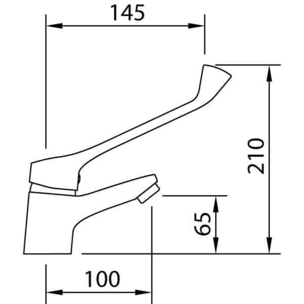 Grifo de lavabo gerontológico 60mm - S12 Urban - Grifería Clever