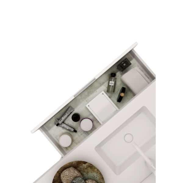 Conjunto encimera SolidCoat Surface con auxiliar un cajón - Serie Life - Baños10