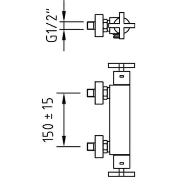 Grifo de ducha termostático With2 - Morea - Clever
