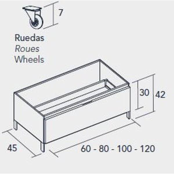Módulo auxiliar a suelo con ruedas - Baños10