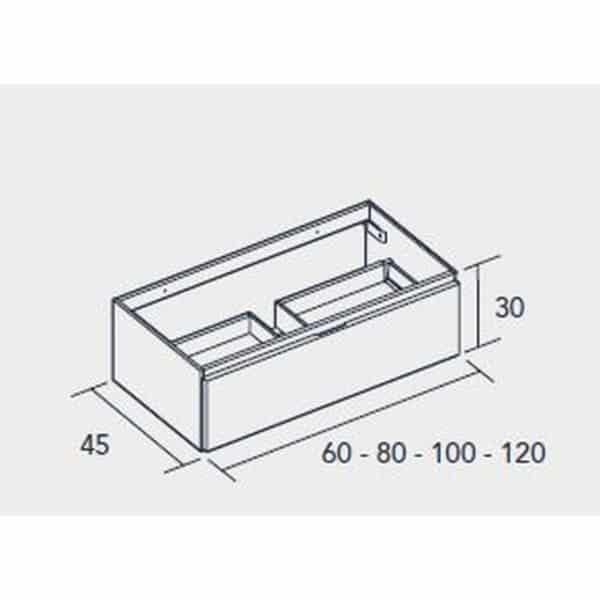 Conjunto encimera gel coat con bajo mueble - Serie Life - Baños10