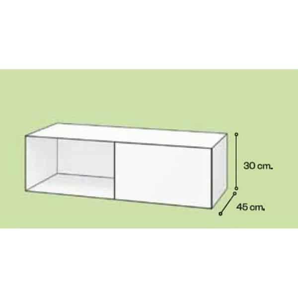 Mueble un hueco y un cajón en fenólico - Sava - Doccia Group